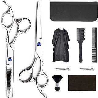 REDESS Hair Cutting Scissors Set Hairdressing Scissors Kit,Professional Barber Salon Home Shear Kit For Men Women/Silver