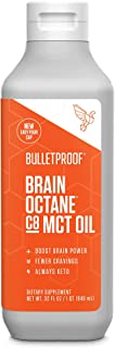Bulletproof Brain Octane C8 MCT Oil from Coconut Oil, 32 Fl Oz, Provides Mental and Physical Energy, Keto and Paleo Friend...