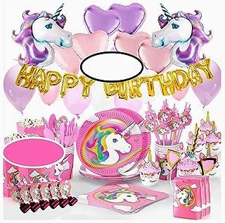 New Arrivals 160+ PCS Kid Birthday Decorations Favors Set Unicorn Party Supplies