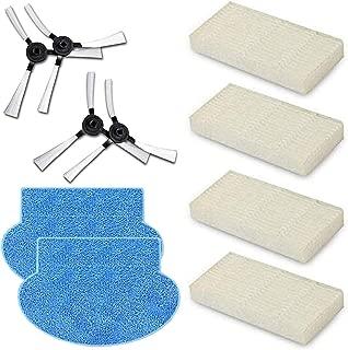 Reyee 4 cepillos laterales, 4 filtros HEPA, 2 almohadillas de limpieza para fregona AMIBOT Pure, Pulse y Prime H2O FLEX