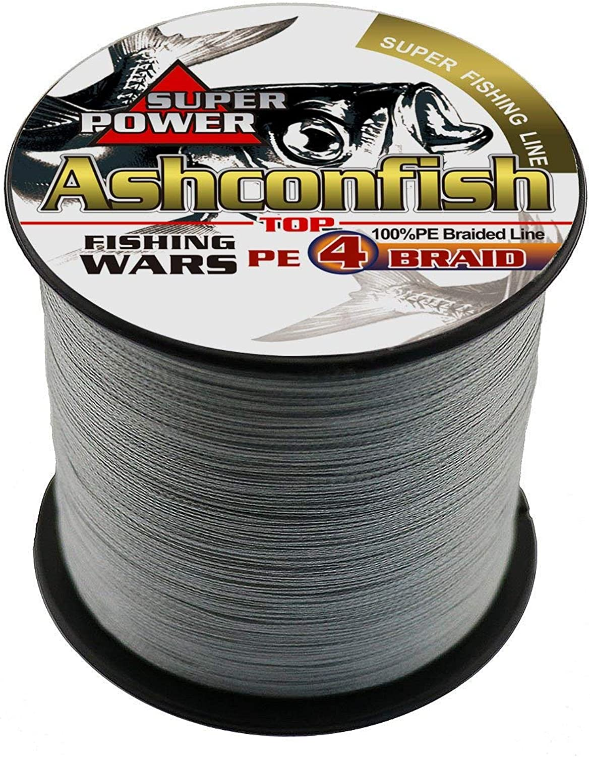 Ashconfish Super Strong Braided Fishing Line4 Strands Fishing Wire 300M 328Yards Fishing StringAbrasion Resistant Incredible Superline Zero Stretch Small Diameter