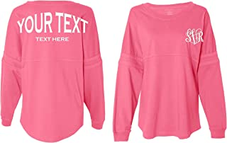 Custom Monogram Pom Pom Jersey Shirt   Boxercraft Monogram Pom Pom Jersey Shirts   Decal Include