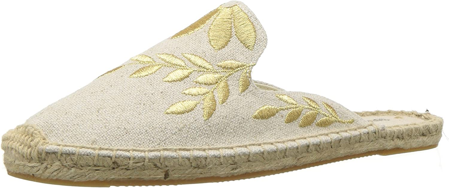 Soludos Womens Embroidered Floral Mule Mule