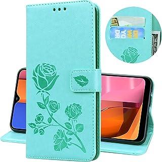 جراب محفظة Mylne لهاتف Huawei P20 Pro، جراب واقٍ قلاب من الجلد الصناعي مع مسند لحمل البطاقات، أخضر