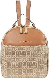 Hazel - Backpack - Square Monogram Jacquard Khaki Tonal One Size