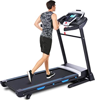 ANCHEER Folding Treadmill, 3.25HP Automatic Incline Treadmill, Walking Running Jogging Running Machine for Home Gym