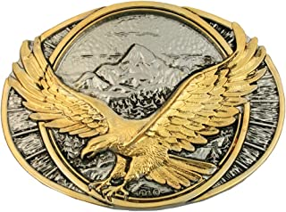 Montana Silversmiths Men`s Soaring Eagle Belt Buckle - 60791P
