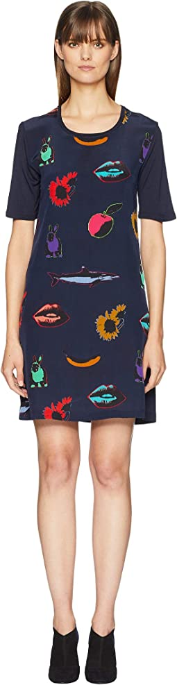 Artful Print T-Shirt Dress
