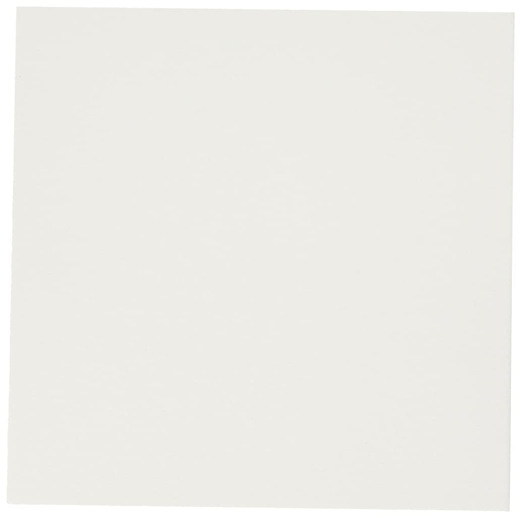 QUICKUTZ We R Memory Keepers Letterpress Paper, Square-Size, Flat-Style, 25-Pack, White