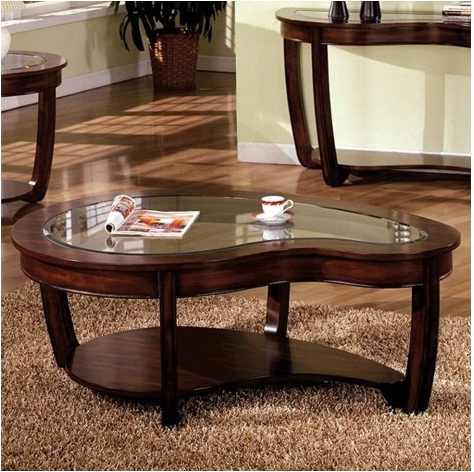 Furniture of America CM4336C A surprise price is realized Crystal Falls Ta Cherry Inexpensive Dark Coffee