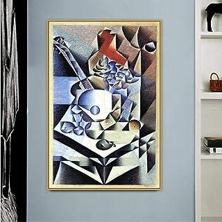 HXQQ Viejo Famoso Famoso Artista español bodegón con Flores Lienzo Pintura Cartel impresión para decoración de la Pared de la habitación Arte de la Pared Pop 60x90 cm