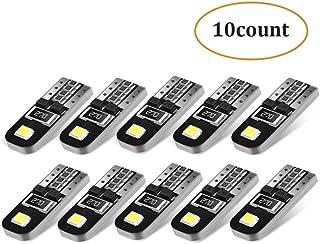 AGPTEK 10X Ampoules T10 LED Voiture Lampe Xénon 12V Chipsets W5W 2825 6000K Ultra Claire..