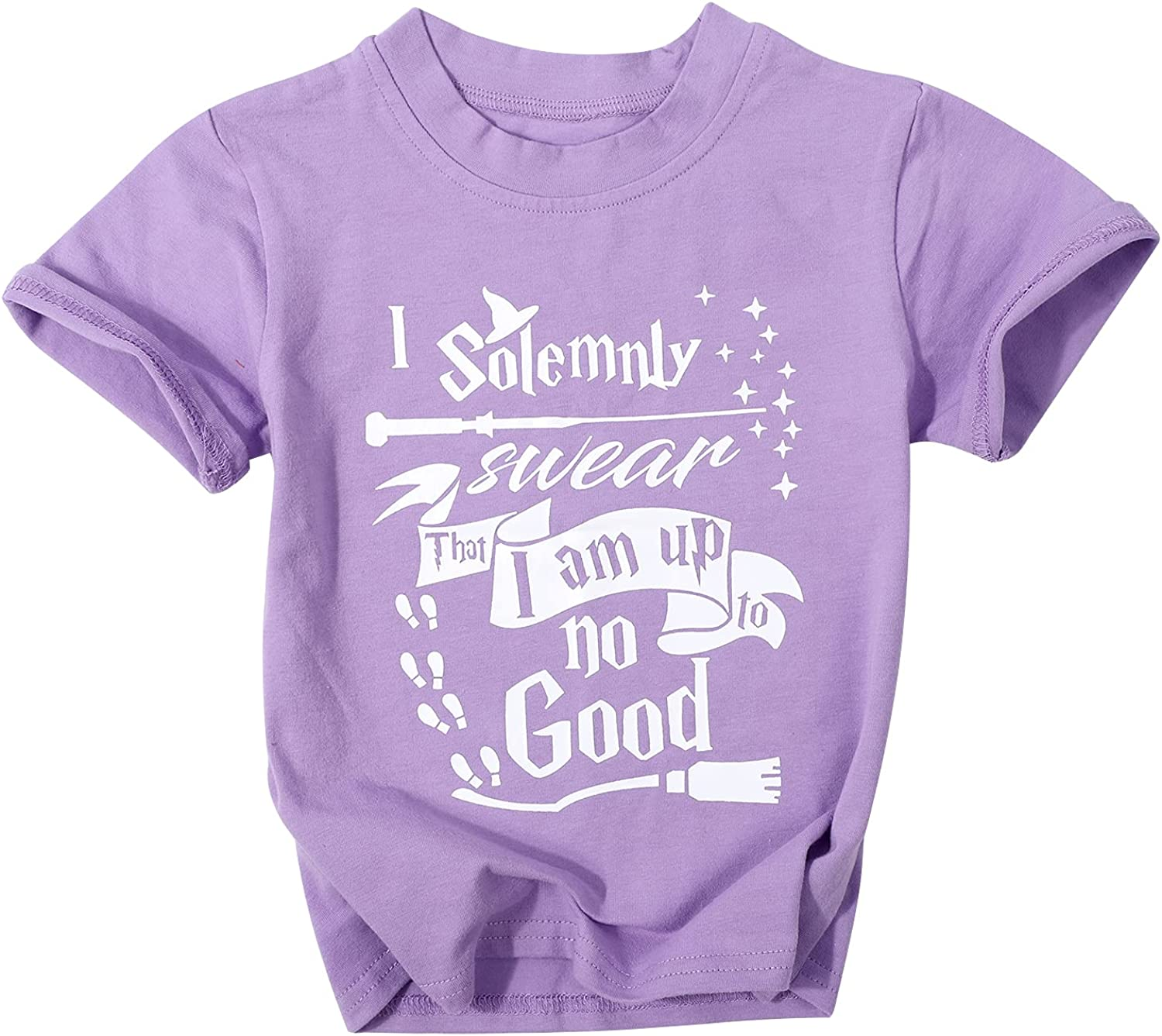 Toddler Boys Girls I Solemnly Swear That I Am Up to No Good T-Shirt Soft Short Sleeve Tee Tops