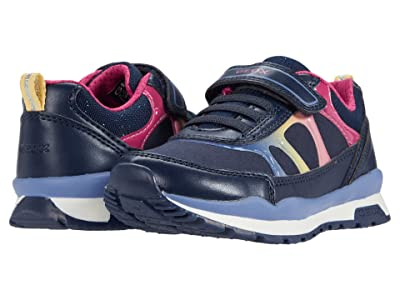 Geox Kids Pavel 9 (Little Kid) (Navy/Multicolor) Girl