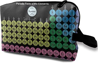 ZhanZhaoHniz Colored Periodic Table of The Elements Professional Cosmetic Bags Makeup Pouch Multifunctional Travel Storage Bag for Makeup Brushes, Pens, Eyeliner