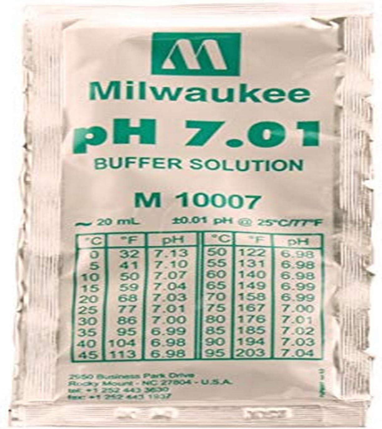 MILWAUKEE'S M10007B - 20 ml Packet 25 Buffer Cs Solution latest Seasonal Wrap Introduction 7.01