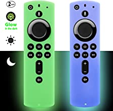 [2 Pack] Firestick Remote Cover Case (Glow in the Dark) Compatible with Fire TV Stick 4K Alexa Voice Remote Control (Green...