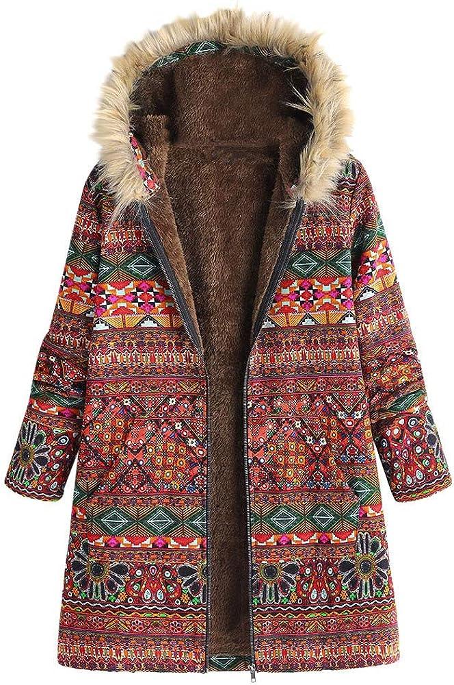 JOFOW Womens Jacket Coats Floral ランキングTOP10 Vintage Hoode 新作 大人気 Boho Print Ethnic