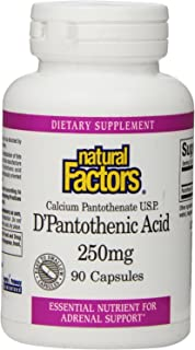 Natural Factors Pantothenic Acid 250 mg 90 Capsules, 100 gm