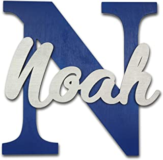 Large Personalized Nursery Wall Decor, Wood Letter, Name Sign for Boys and Girls