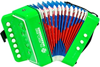 MUSICUBE Kids Accordion Instrument Toys 10 Keys Button Small Accordion for Boys &..