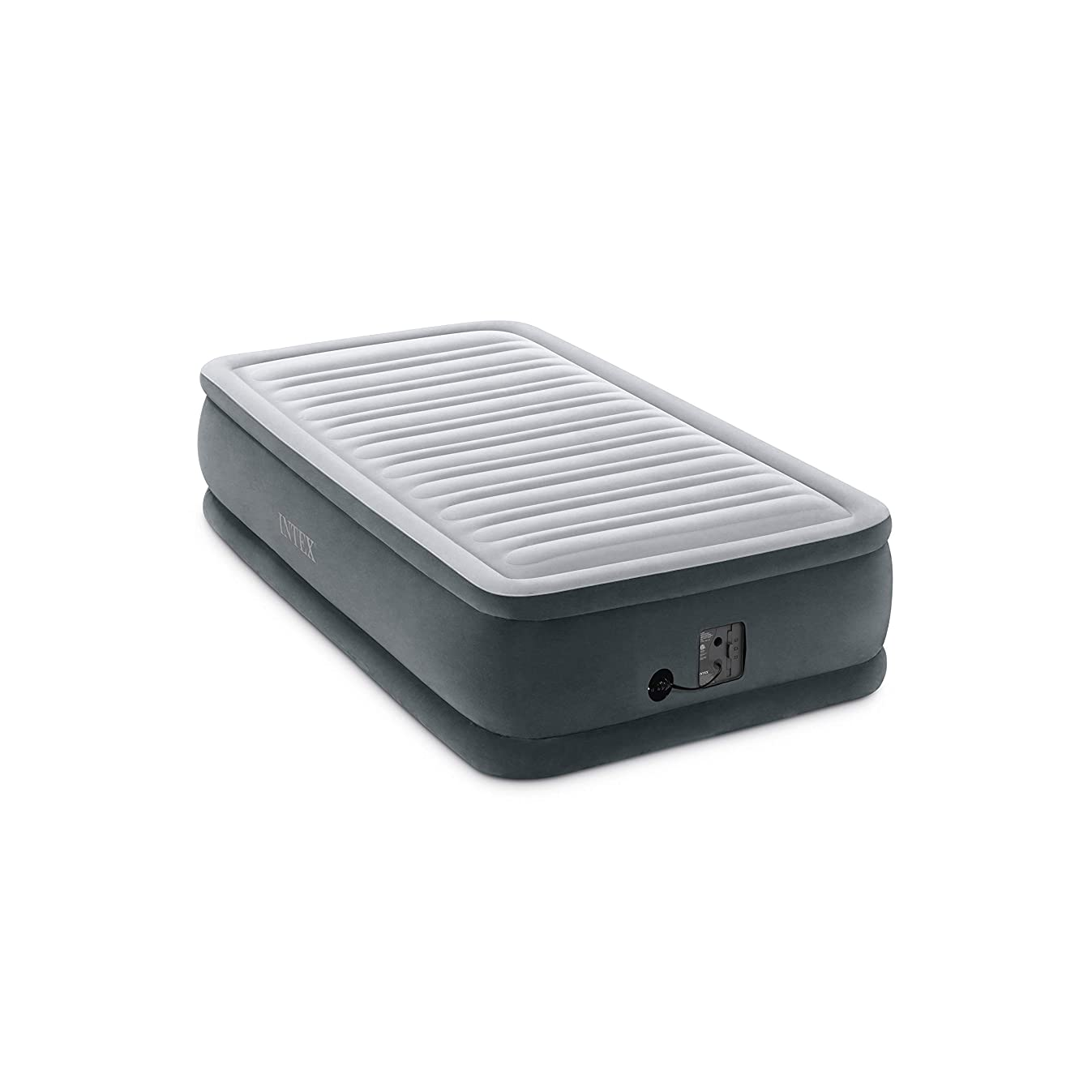 Intex Comfort Plush Elevated Dura-Beam Airbed with Internal Electric Pump, Bed Height 18