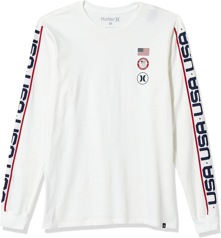 Hurley Mens Premium USA Long Sleeve Tshirt