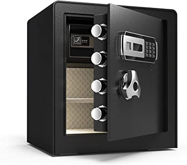 YCGSHOP Upgraded Digital Security Safe Box, Money Box with Double Safety Key Lock,Keypad Digital and Password, Special own In