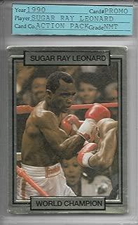1990 Action Packed Boxing Sugar Ray Leonard Promo Card Graded Near Mint