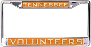 WinCraft NCAA Tennessee Volunteers Inlaid Metal License Plate Frame, 2-Tag Corners
