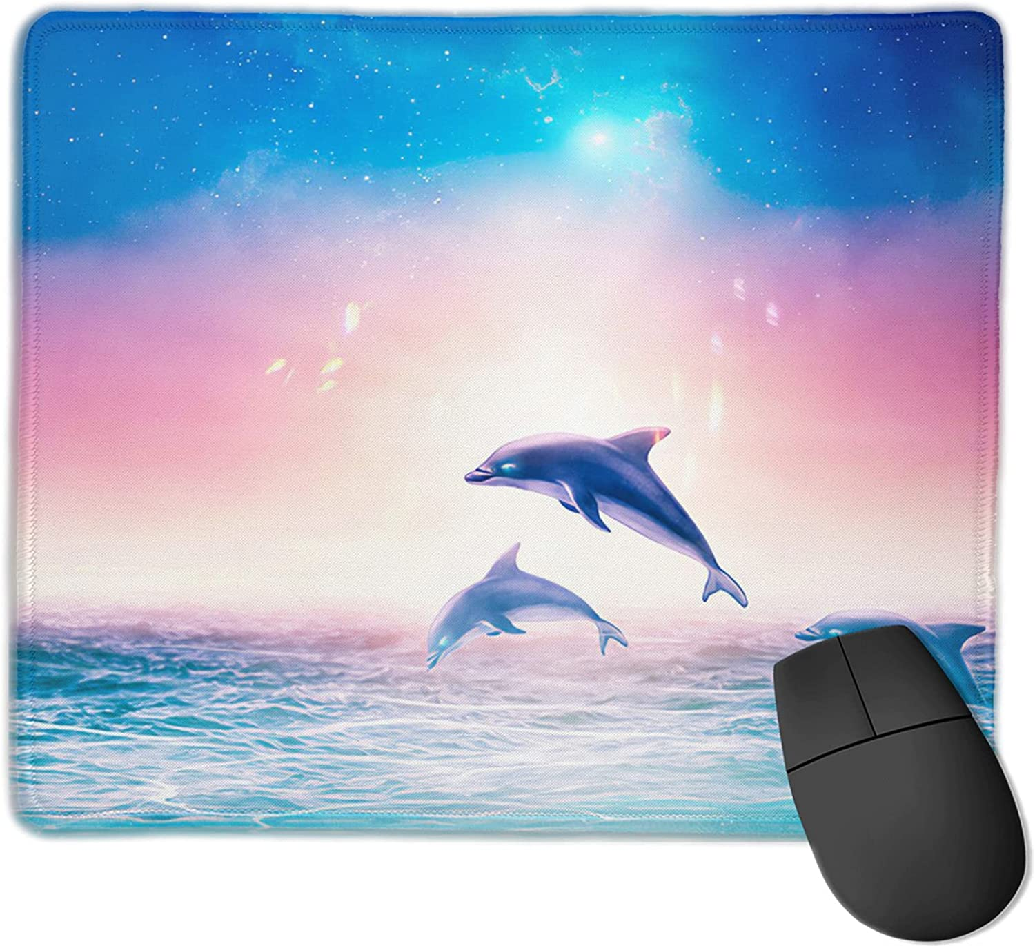 In a popularity Cute Cheap mail order shopping Dolphin Mouse Pad9.8x11.9 in Gaming Pad Extended Stit