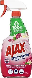 Ajax Spray n' Wipe MultiPurpose Kitchen & Bathroom Household Cleaner Trigger Surface Spray Vanilla & Berries Made in Austr...