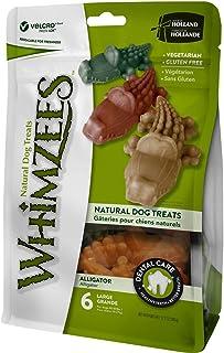 Whimzees Natural Grain Free Dental Dog Treats, Alligator L 6pcs 360g