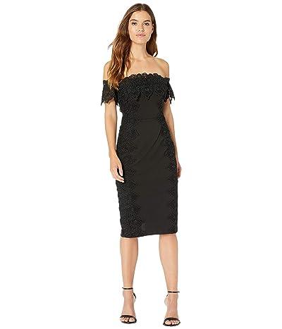 Nicole Miller Off-Shoulder Lace Dress (Black) Women