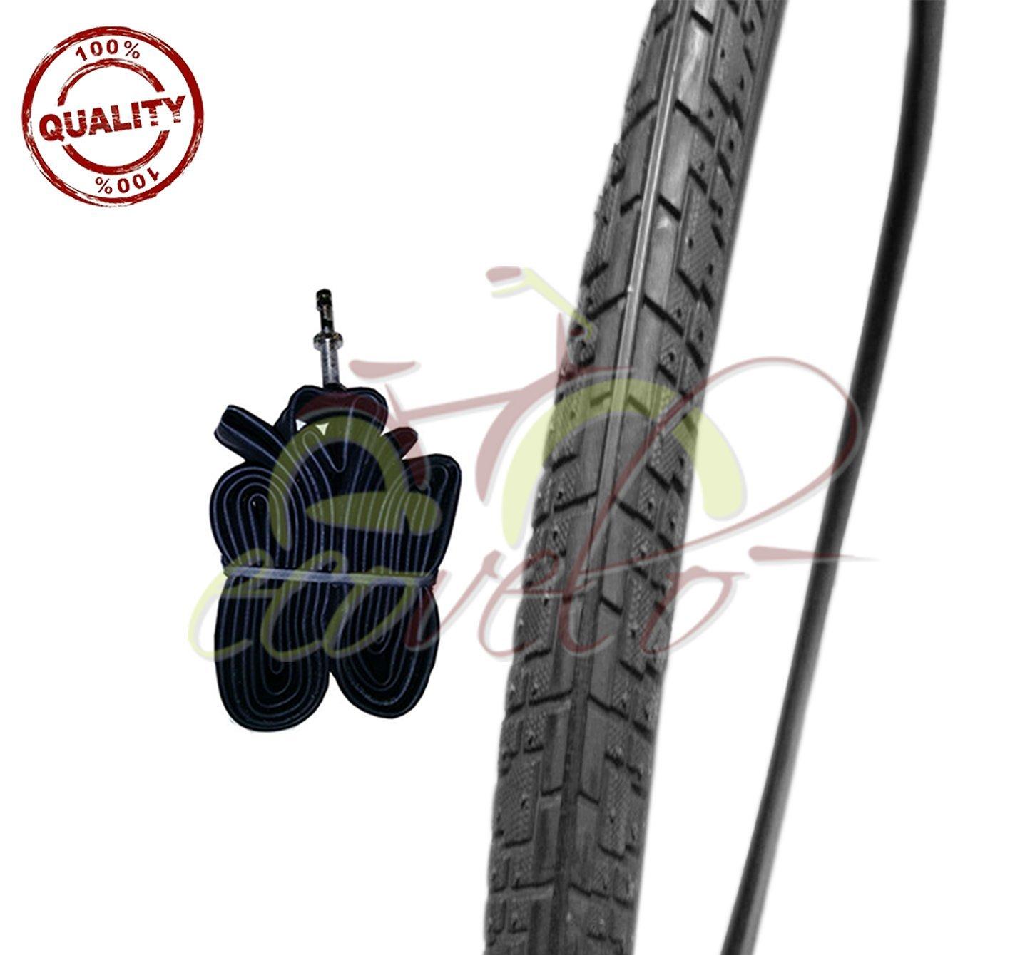 DEESTONE 1 neumático Negro + 1 Cámara de Aire para Bicicleta ...