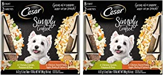 Cesar Simply Crafted Wet Dog Food – 16 Count Variety Pack, 1.3 oz. Trays