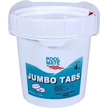 Pool Mate 1-1404 Jumbo 3-Inch Swimming Pool Chlorine Tablets, 4-Pounds