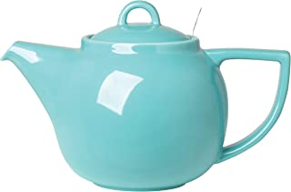 London Pottery Geo Teapot with Stainless Steel Infuser, 4 Cup Capacity, Caribbean Blue