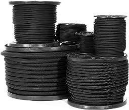 """Shock Cord-1/8, 1/4, 3/8, 1/2, 3/4""""-Black Diamond Weave Elastische Bungee Cord-Kenmerken 100% Stretch, Schokabsorberend, S..."""