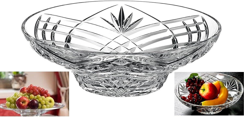 Elegant Crystal Sparkling Design, Serving Centerpiece For Home,Office,Wedding Decor, Fruit, Snack, Dessert, Server