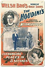 """Pacifica Island Art The Houdini's - Harry en Beatrice Houdini - Welsh Brothers Circus - Vintage Magic Poster c.1894-8 """"x 1..."""