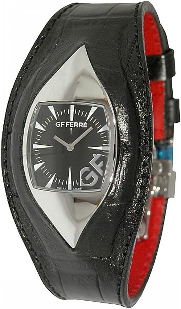 Gianfranco ferré orologio da donna cassa in acciaio inossidabile cinturino in pelle GF 9011M1