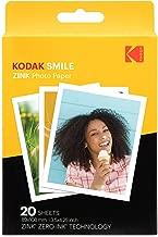 Kodak 3.5x4.25 inch Premium Zink Print Photo Paper (20 Sheets) Compatible with Kodak Smile Classic Instant Camera