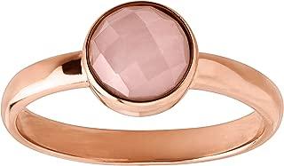 Making Me Blush' 1/2 ct Natural Rose Quartz Ring in 14K Rose Gold-Plated Sterling Silver