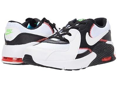 Nike Kids Air Max Excee (Little Kid) (White/White/Black/Flash Crimson) Kid