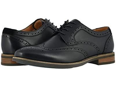 Florsheim Uptown Wing Tip Oxford (Black Leather/Suede) Men