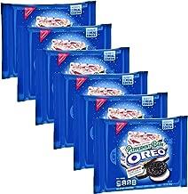 OREO Peppermint Bark Limited Edition Seasonal Chocolate Sandwich Cookies Bulk Pack of 6 Bags - 10.7 oz Per Bag - 64.2 oz total