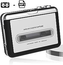 USB Cassette Tape to MP3 Converter,2019 Upgrade Version Portable CD Music/Walkman Tapes Recorder Digital Audio Music Player Earphone