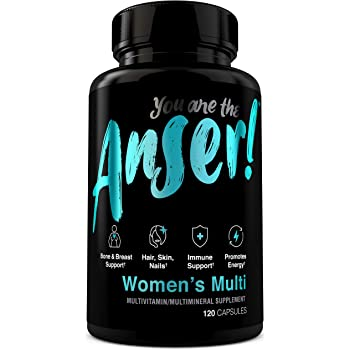 Anser Once Daily Women's Multivitamin by Tia Mowry with Full B-Complex Vitamins - Hair, Skin & Nail Support - Promotes Energy -Bone, Breast & Immune Support -Digestive Blend for Stomach Comfort