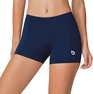 Women's 3 Inches Active Fitness Compression Volleyball Shorts Workout Spandex